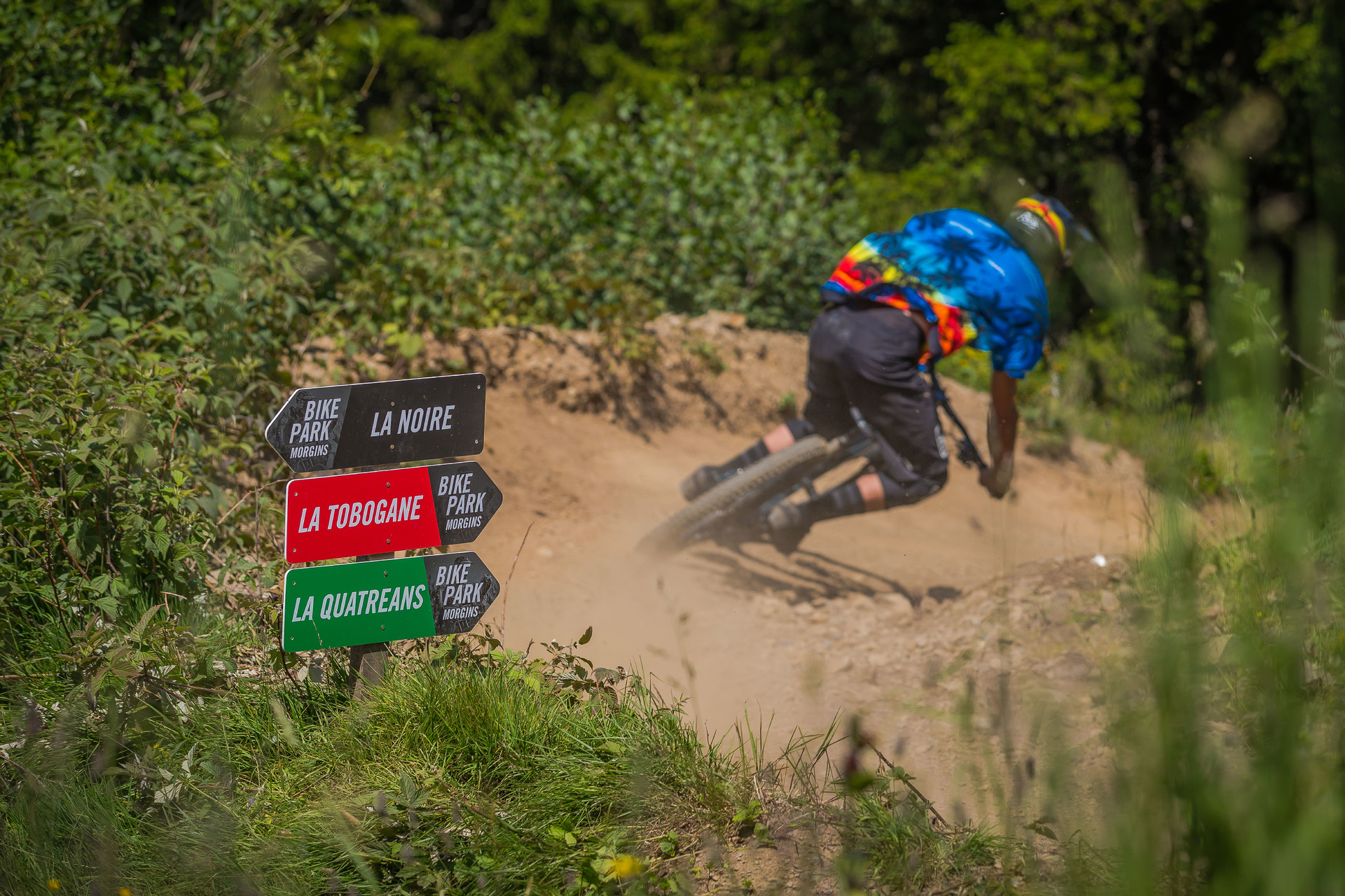 Brave bikers can charge down the various Bikepark's downhill MTB trails in the Portes du Soleil resorts.