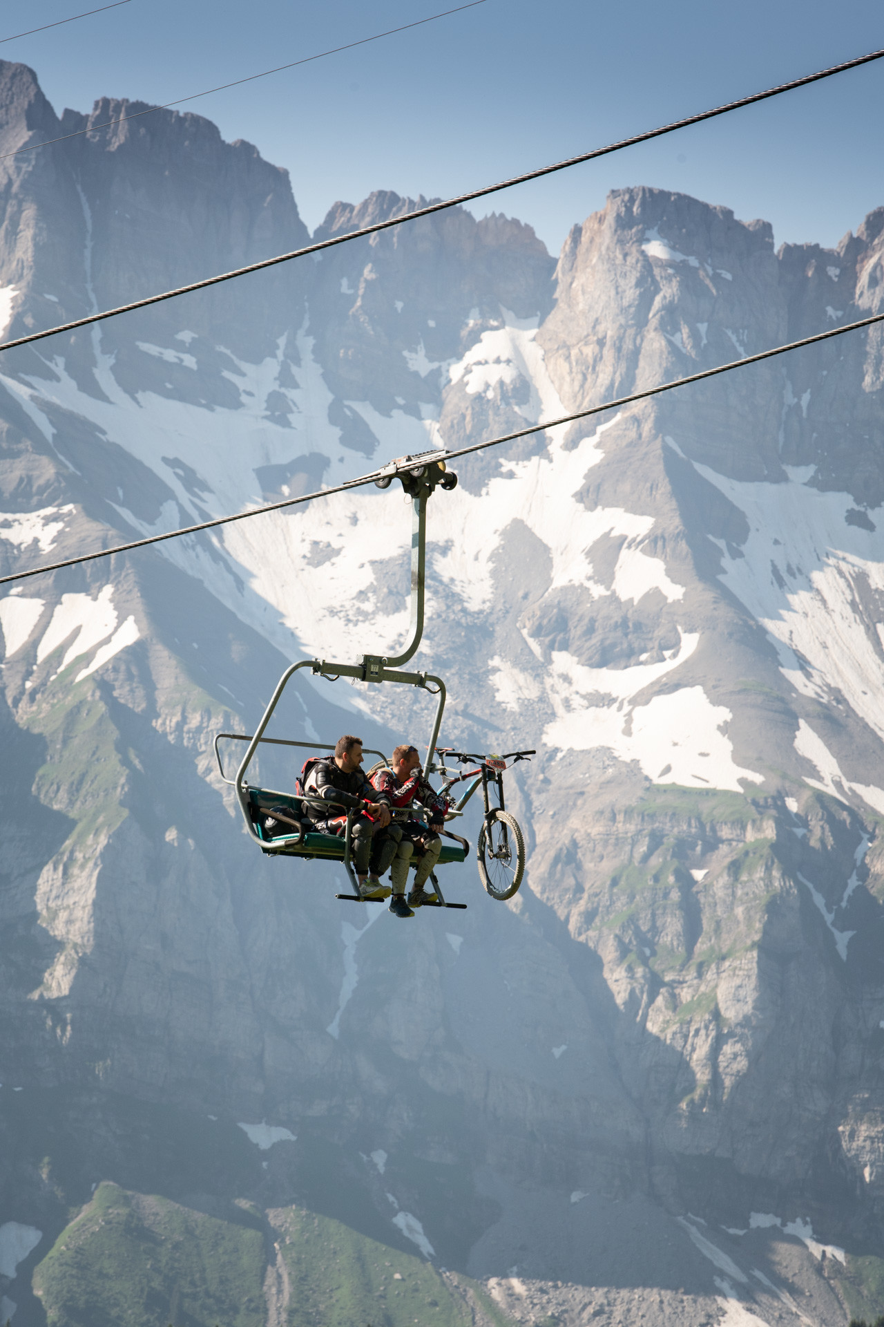 In summer, the ski lifts are equipped for mountain bikes to save you time and energy.